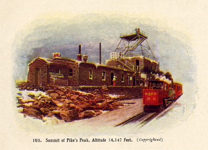 Postcard of the Pikes Peak Summit House circa 1907