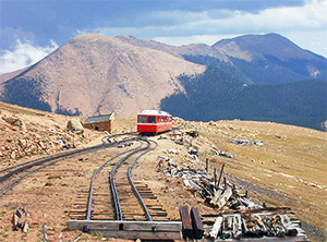 Reaching Windy Point on the Pikes Peak Cog Rail