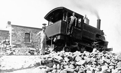 """The cog engine """"John Hulbert"""" - Courtesy of Special Collections, Pikes Peak Library"""