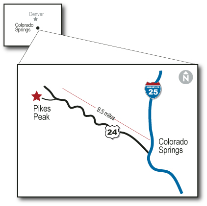 Pikes Peak Proximity Map