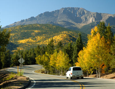 Fall colors on the Pikes Peak Highway